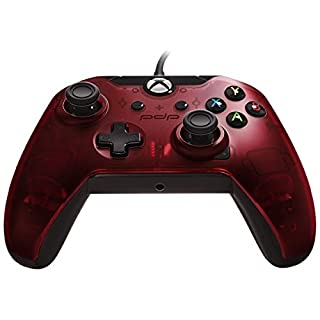 PDP 048-082-NA-RD Wired Controller for Xbox One, Xbox One X and Xbox One S, Crimson Red