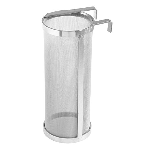 SODIAL Stainless Steel Hop Filter Strainer Mesh Hopper Strainer for Home Beer Brewing Kettle (4 x 10inch) by SODIAL