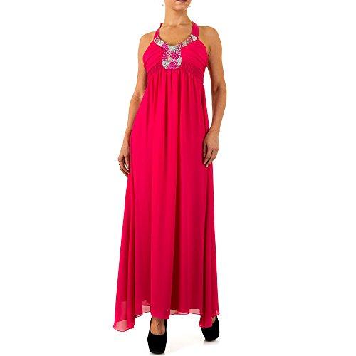 Chiffon Cocktail Maxi Kleid Für Damen bei Ital-Design Pink