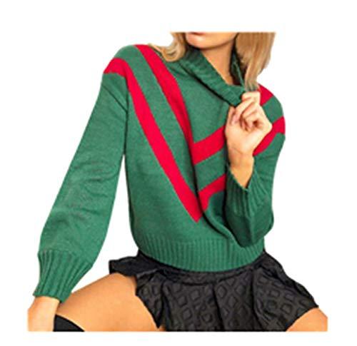 Rayé Capuche Vert Outwear Longues Pardessus Dames Chandails À Tricoter Manches Pull Roulé Col Hiver Mode Automne Stripe Femmes Ensemble Sweat pqwxg80x