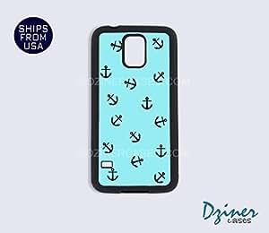 Galaxy Note 2 Case - Aqua Blue Anchors