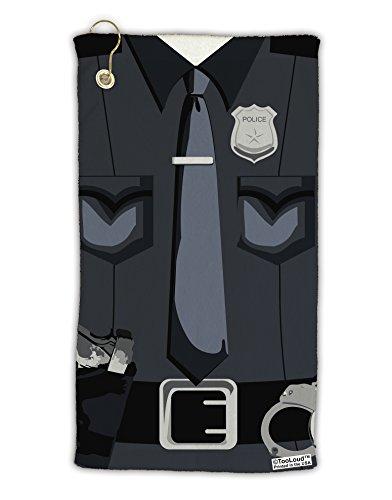 TooLoud Police Costume AOP Micro Terry Gromet Golf Towel 16