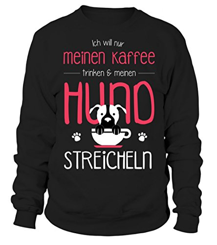 IchLiebeHunde.com - Sudadera con capucha - para mujer negro XXXL
