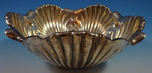 Whiting Sterling Silver Salad Bowl Repoussed Lettuce Leaf #2520 (Whiting Salad)