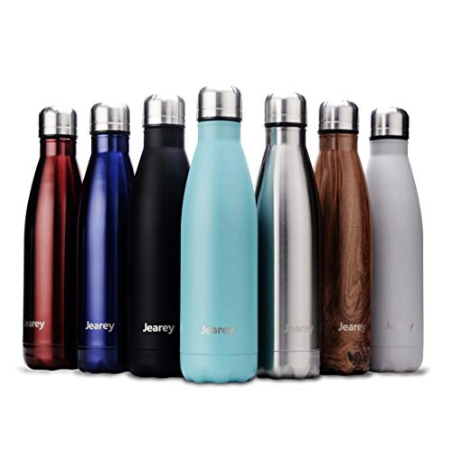 Jearey Water BottleStainless SteelBPA Free Leak Proof Large Capacity Flask Kids Thermosfor Sports travel (rose gold2, 17oz)
