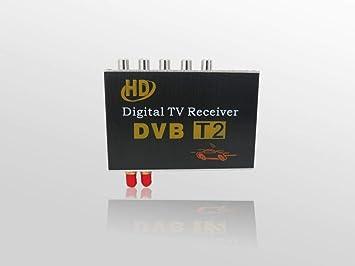 GAX Antena Doble TV vía satélite decodificador Coche Digital TV ...