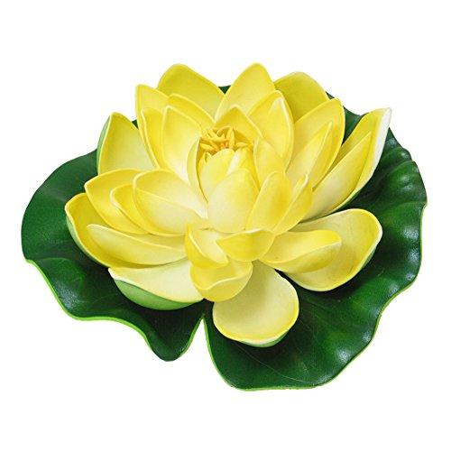 UPC 610256093482, Jardin Aquarium Floating Lotus Pond Flower Leaf, Green Yellow