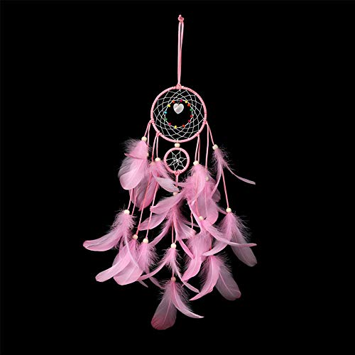 BeAhity DIY Dream Catcher Kit – Make Own Craft Project Traditional Feather Wall Hanging Home Decoration Decor Ornament Craft,4.33 inch ()