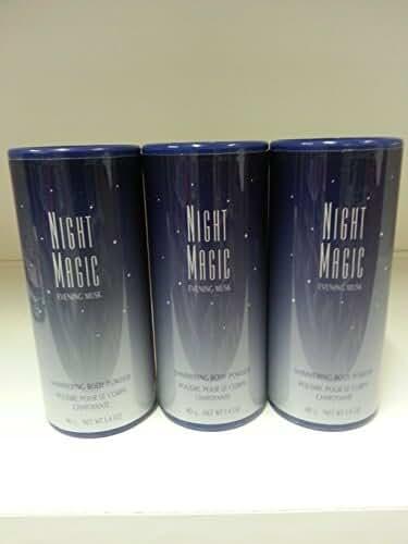 Avon Night Magic Perfumed Body Talc Powder 1.4 z Lot 3 Pcs