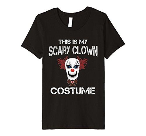 Creepy Clown Costumes Ideas (Kids This Is My Scary Clown Costume Shirt - Creepy Mask Tee 12 Black)
