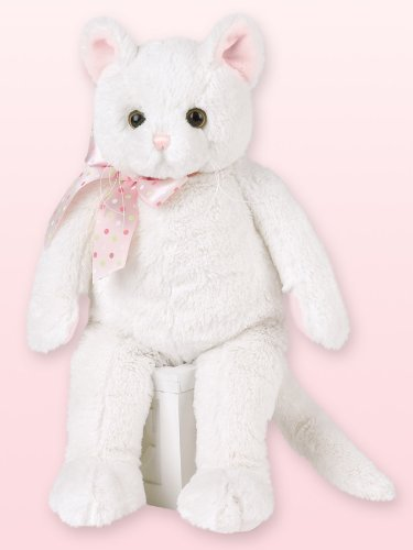 Plush Jungle Cat - Bearington Purrrcy White Plush Kitty Cat Stuffed Animal 14