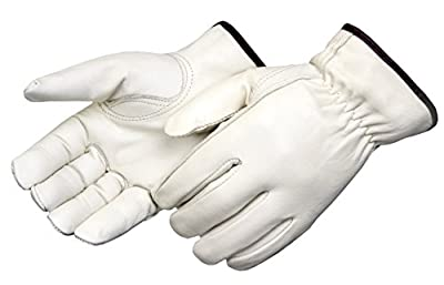 Liberty Glove & Safety AMZ6127L Cowhide Driver Work Glove, Large, White (Pack of 3)