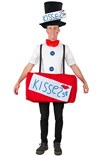 Halloween Kissing Booth Costume (Princess Paradise, Adult Kissing Booth Hat, Shirt, Bow Tie & Ride-In Body)