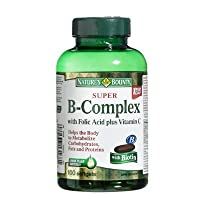 Nature's Bounty Super B-Complex with Folic Acid Plus Vitamin C with Biotin 100 Softgels...