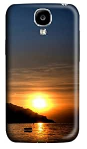 Lake Sunset Polycarbonate Hard Case Cover for Samsung Galaxy S4/Samsung Galaxy I9500 3D