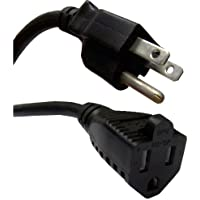 eDragon Power Extension Cord, Black, NEMA 5-15P to NEMA 5-15R, 10 Amp, 15 feet Power Cable, (ED70968)