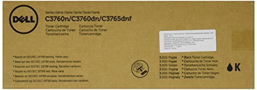Dell KT6FG Toner Cartridge C3760N/C3760DN/C3765DNF Color Laser Printer by Dell