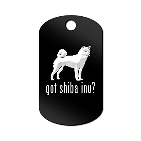 Amazon.com: Got de Shiba Inu grabado Llavero/GI Tag Mister ...