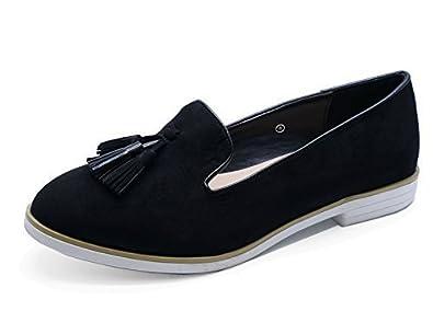 Damen hautfarben zum reinschlüpfen Leder Works MOKASSIN FREIZEIT Komfort Halbschuhe Schuhgrößen 3-8 - Hautfarben, EU 37 HeelzSoHigh