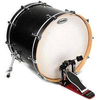 evans eq3 resonant smooth white bass drum head no port 16 inch musical instruments. Black Bedroom Furniture Sets. Home Design Ideas