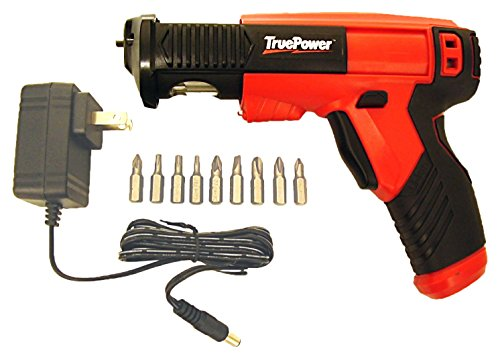 TruePower 01-0863 4V Lithium-Ion Auto-Load Screwdriver with LED Work Light