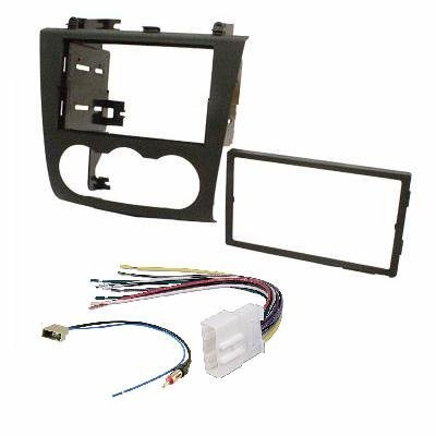 Nissan Altima 2007-2011 Double Din Aftermarket Radio Stereo Installation Dash Kit + Wire Harness and Antenna Adatper: Car Electronics