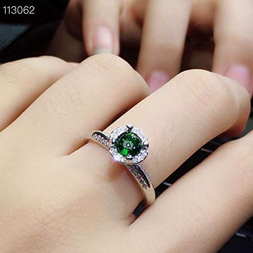 Natural Chrome Diopside Ring 18K Gold Plated Sterling ()
