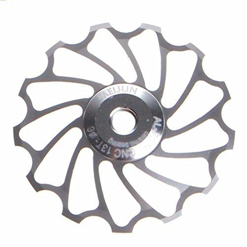 Promisen 13T MTB Ceramic Bearing Jockey Wheel Pulley Road Bike Bicycle Rear Derailleur (sliver)