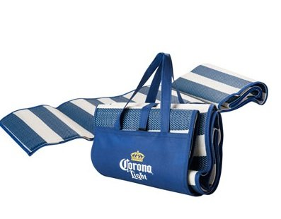 Corona Light Beach Mat with Inflatable Pillow Sand Water-Resistant