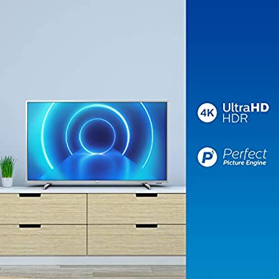 Televisor 4K UHD Philips 50PUS7555/12 de 126 cm (50 pulgadas) (4K UHD, P5 Perfect Picture Engine, Dolby Vision, Dolby Atmos, HDR 10+, Saphi Smart TV, HDMI, USB), color plata (modelo de 2020/2021): Amazon.es: Electrónica