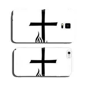 Trauermotiv with crucifix, candles and sector / vector cell phone cover case Samsung S5