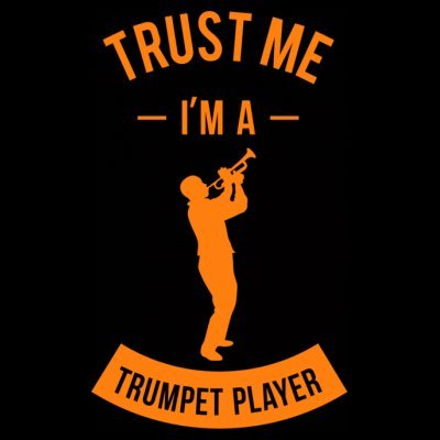 Sudadera con capucha de mujer Trust Me I'm A Trumpet Player by Shirtcity Negro