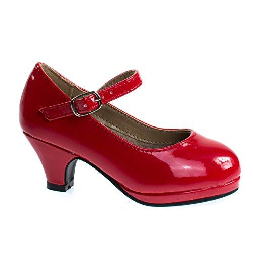 Forever Link Children Girl Rhinestone Round Toe Mary-Jane Dress Pump w Platform (Platform Shoes Unique)