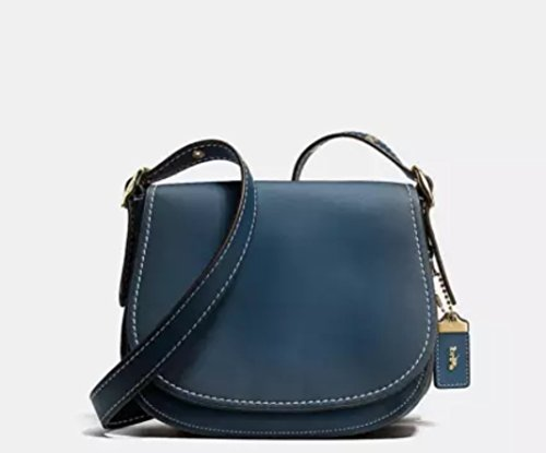 Coach 1941 collection Burnished Saddle 23 in glovetanned leather Dark Denim 38198 -