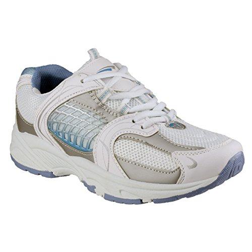 Mercury Bonnie Damen Turnschuhe / Sportschuhe / Sneakers Weiß/Blau