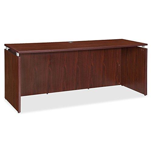 Lorell LLR68692 Executive Desk, Mahogany -