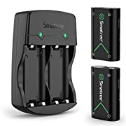 #LightningDeal Smatree Controller Battery Compatible for Xbox Series X|S/Xbox One/Xbox One S/Xbox One X/Xbox One Elite Wireless Controller, 2 Pack Rechargeable Batteries with Charger