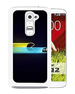 G2 case,Pacman Game Graphics Speed Harassment White LG G2 cover