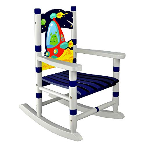 - Fantasy Fields Outer Space Thematic Child Wooden Small Rocking Chair, Blue (Renewed)