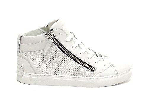 Bianco 11260 Crime Sneakers Pelle E8102 Uomo wCn1x6