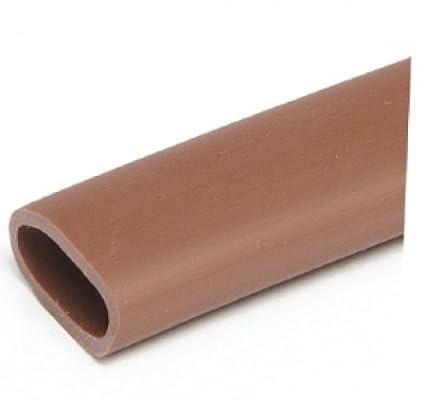 HaGa/® Dachrinnenschutz Laubfang Laubstopp 100mm-125mm 2m lang in braun