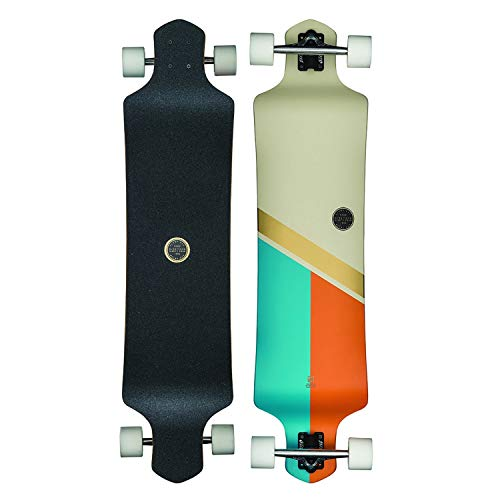 GLOBE Skateboards Geminon Drop-Down Longboard Complete Skateboard, Off White/Gold, 41