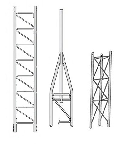 ROHN 45SS020 45G Series 20' Self Supporting Tower Kit, No Ice ()