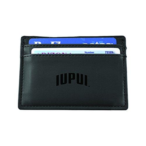 Indiana University - Purdue University Indianapolis-European Money Clip Wallet-Black