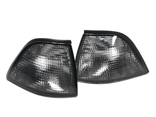92-99 BMW E36 3-Series 2DR Coupe/Convertible (318i 323i 325i 328i) Euro Corner Lights - Smoke (1992 1993 1994 1995 1996 1997 1998 (Bmw E36 2dr Corner Lights)