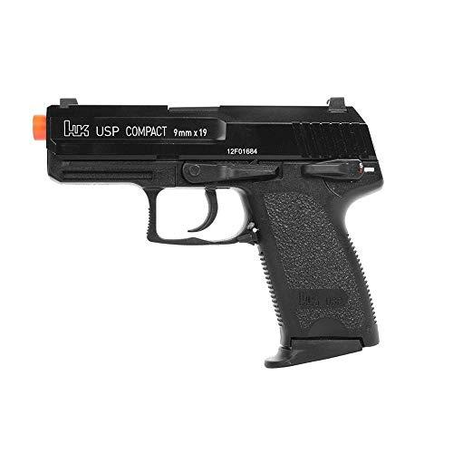 (AirSoft Gun Green Gas Blowback GBB Pistol Metal Semi Auto HK KWA USP Compact FDE)