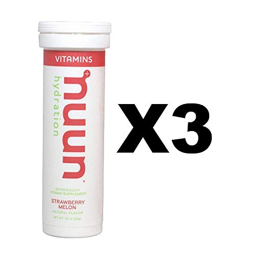 (Nuun Vitamins: Strawberry Melon Daily Hydration Supplement (3 Tubes of 12 Tabs))