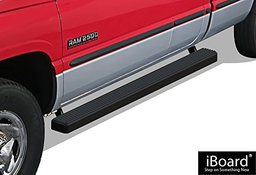 APS iBoard Running Boards (Nerf Bars   Side Steps   Step Bars) for 1994-2001 Dodge Ram 1500 Club Cab & 1994-2002 Ram 2500/3500 (Excl. 02 Body Style Sold in 2001)   (Black Powder Coated 4 inches)