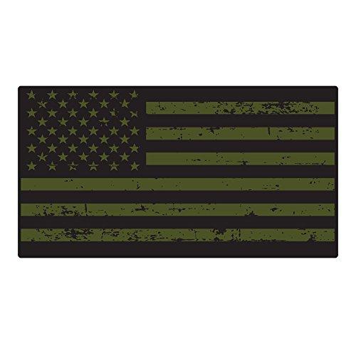 Military Green USA American Flag Sticker 3