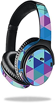 3b67963d2c5 MightySkins Skin for Bose QuietComfort 35 Headphones - Purple Kaleidoscope  | Protective, Durable, and Unique Vinyl Decal wrap Cover | Easy to Apply,  Remove, ...